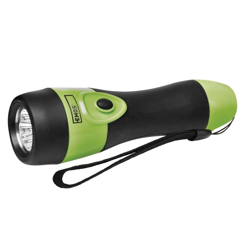 LED ruční gumová svítilna P3865, 40 lm, 2× D, EMOS