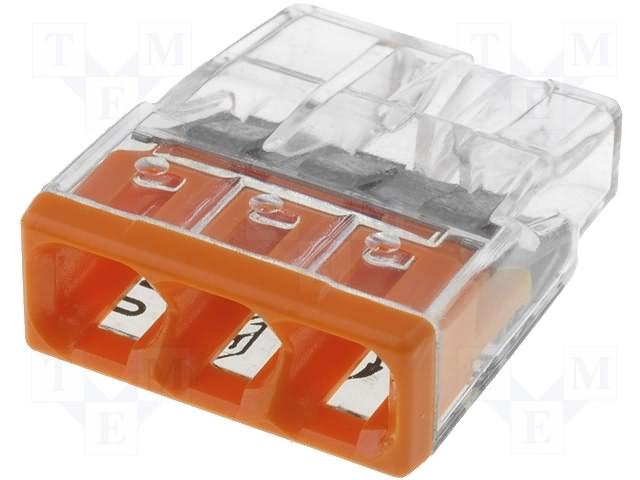 WAGO 2273-203 3x0.5-2.5mm CU oranžová svorkov