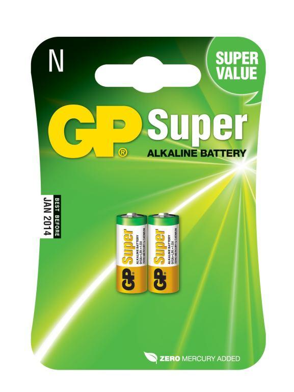 Fotografie Baterie alkalická GP 910A, LR1, Super, blistr 2ks