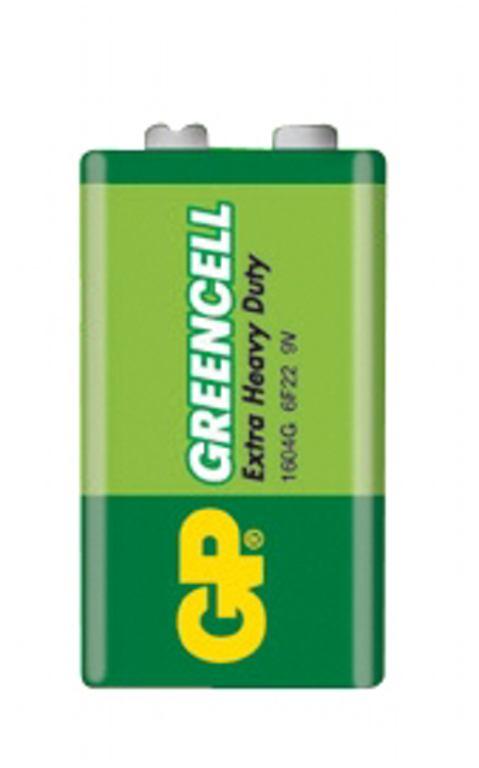 Baterie GP Greencell 6F22 (9V, plochá)
