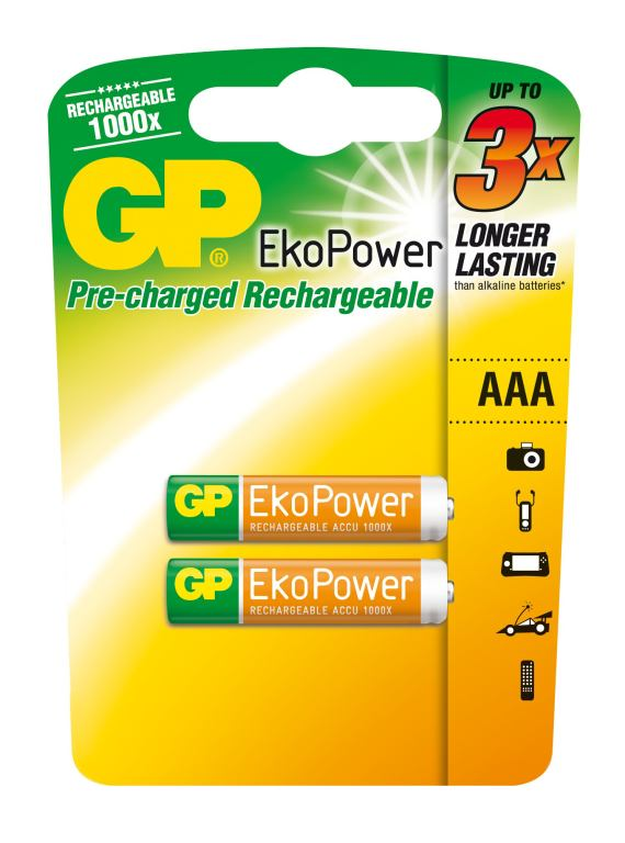 Nabíjecí baterie GP Ekopower HR03 (AAA)