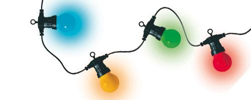 Vánoční i párty řetěz LED LPL10