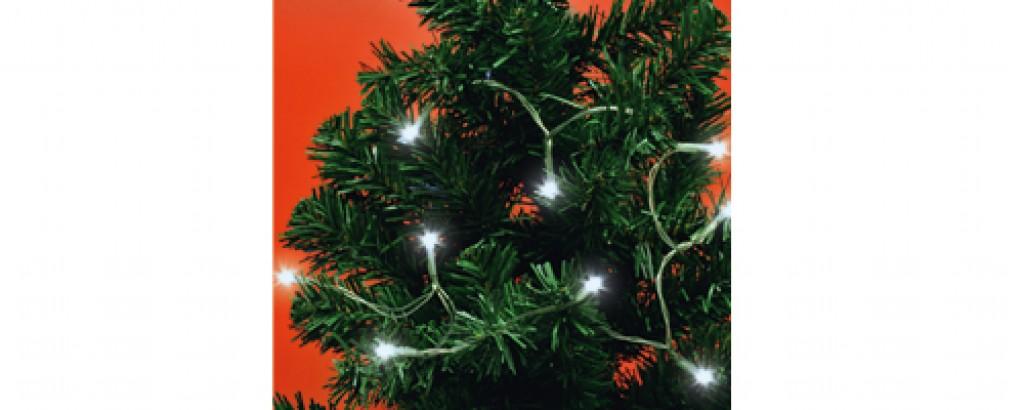 Fotografie Vánoční řetěz mini MLC 20/WH 20 Led v. 2xAA