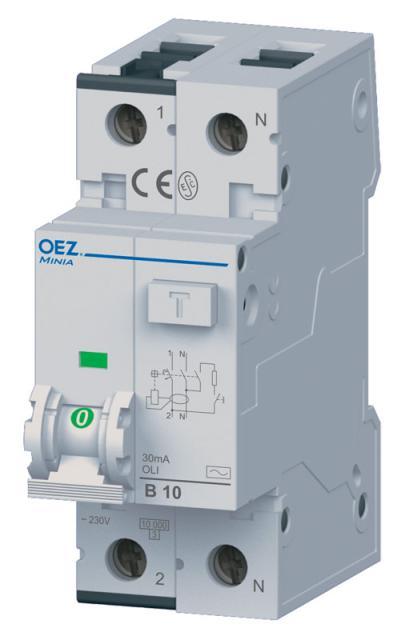 OLI-20B-1N-030AC proudový chránič s jističem