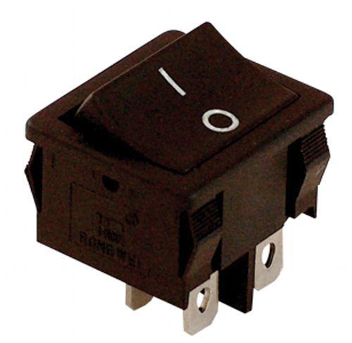 TES-51 kolébkový vypínač 2P černý
