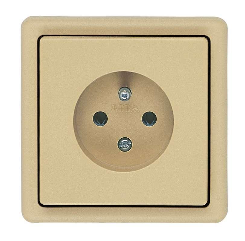 5517-2389 D2 Zásuvka jednonásobná s ochranným kolíkem
