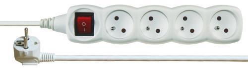 Prodlužovací kabel s vypínačem 4 zásuvky 2m