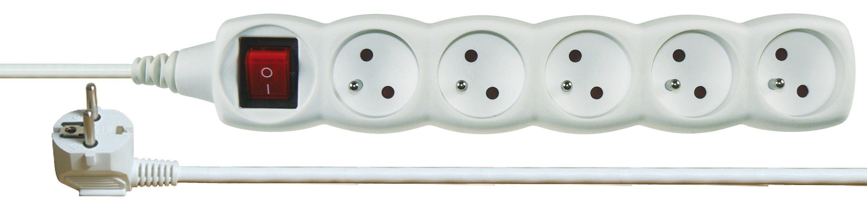 Prodlužovací kabel s vypínačem 5 zásuvky 3m