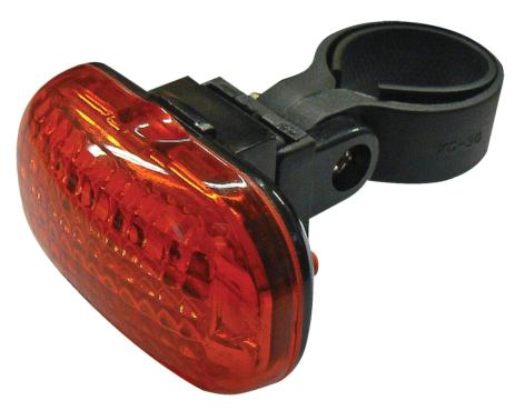 Fotografie Emos LED cyklosvítilna XC-714T, 3x LED, 2x AAA, zadní