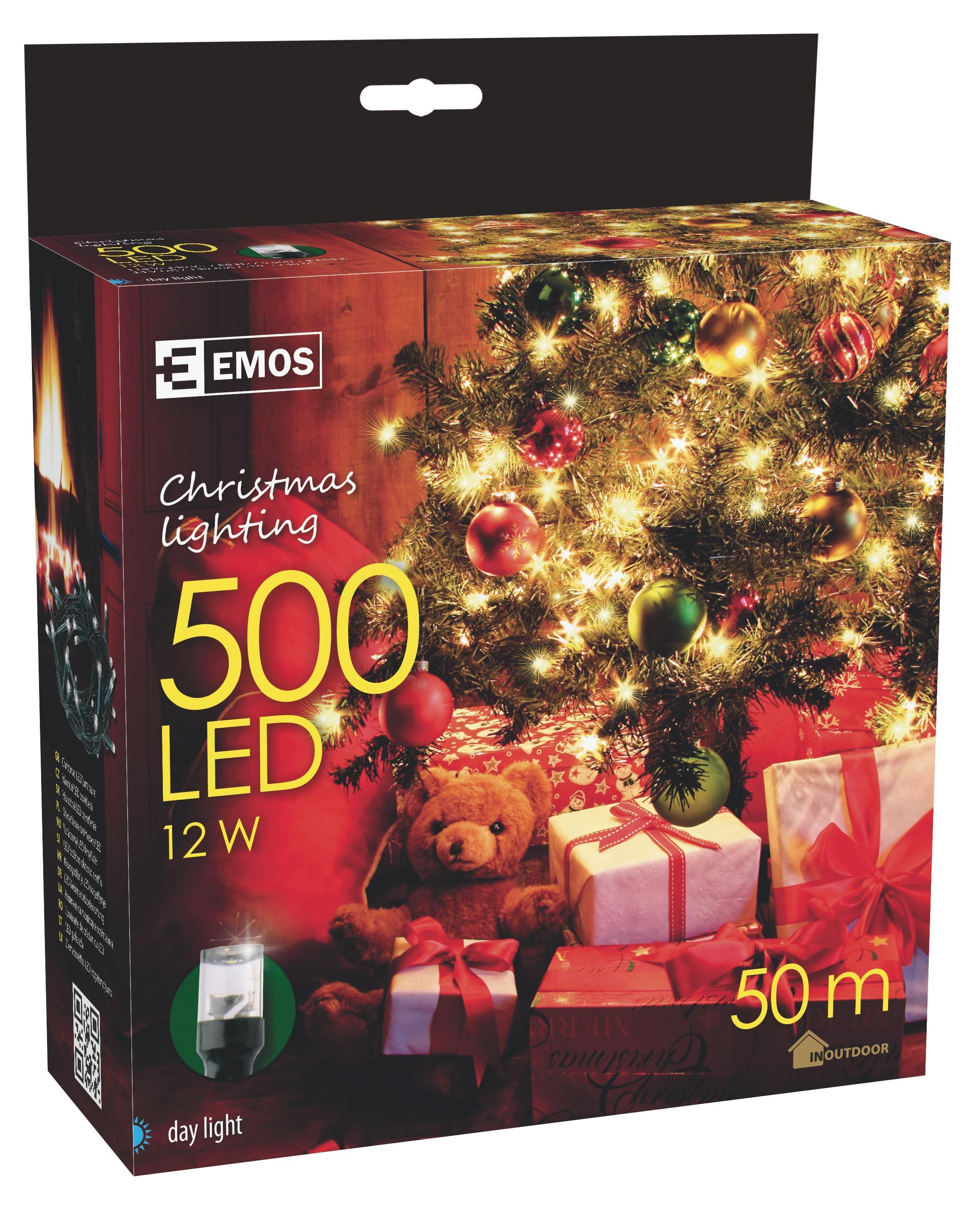 500 LED vánoční osvětlení 50M IP44 denní světlo