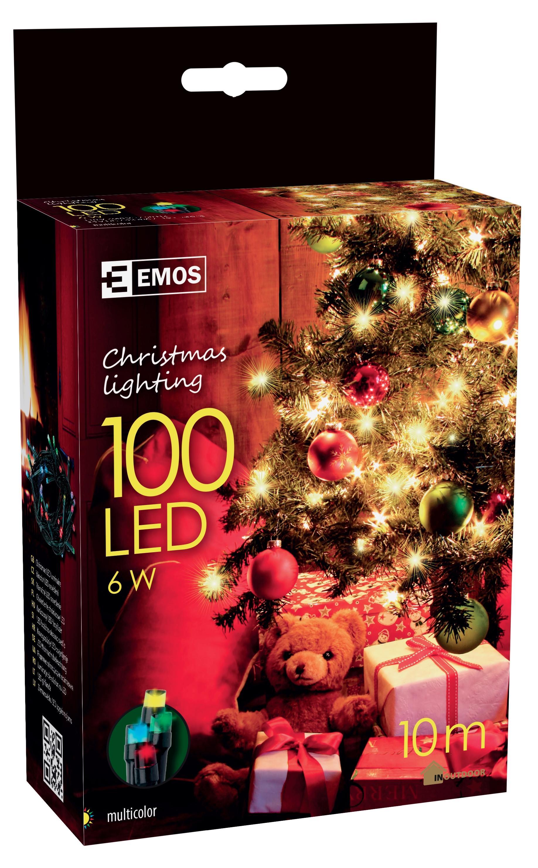 100 LED vánoční osvětlení 10M IP44 multicolor
