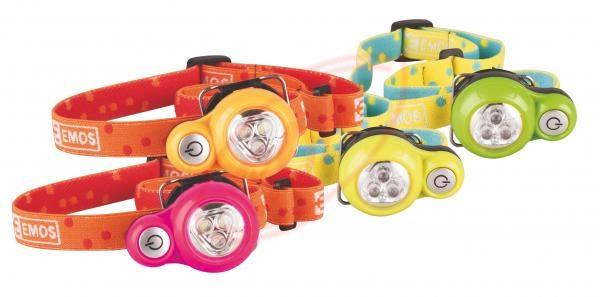 LED svítilna čelovka dětská P3520