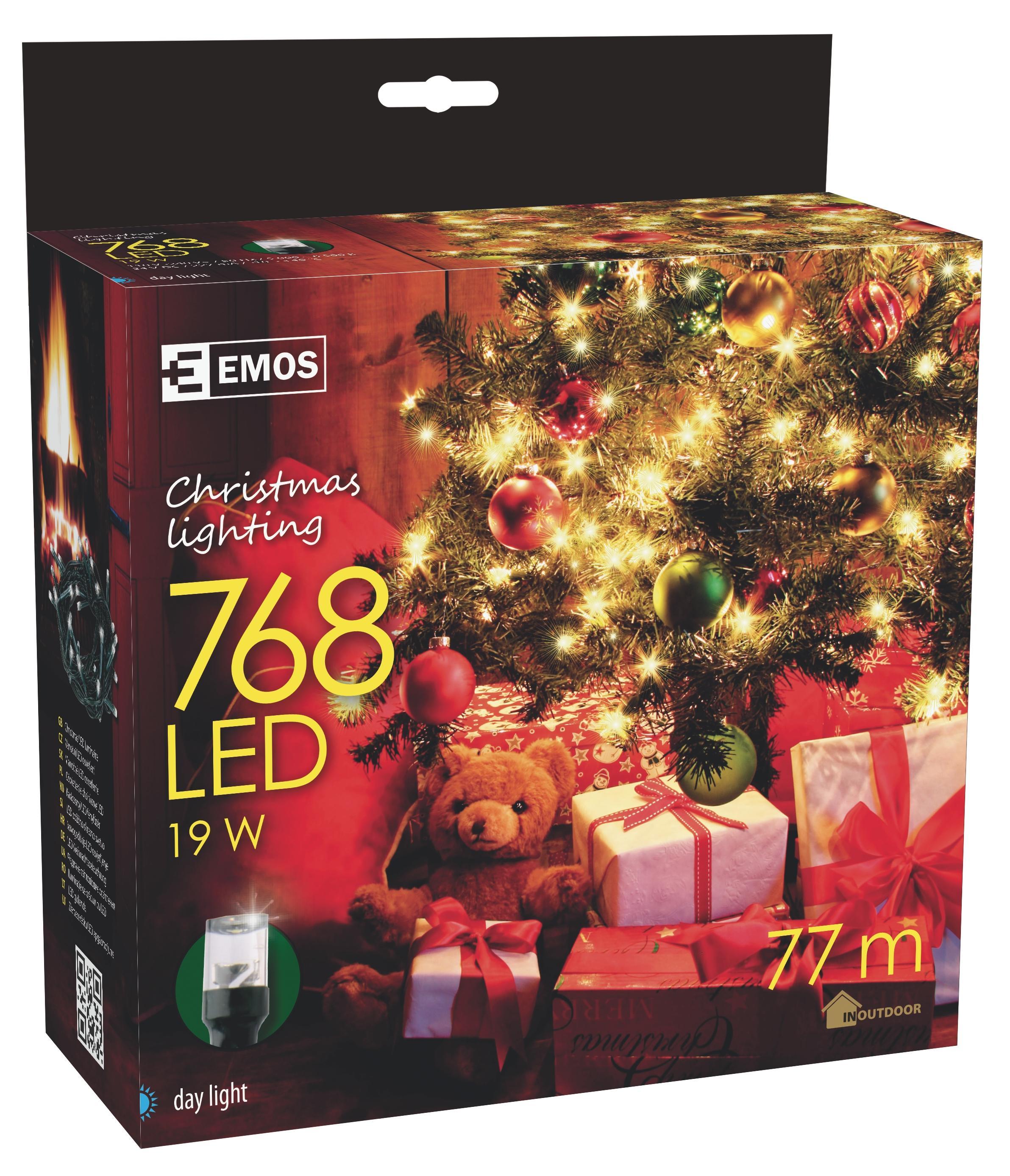 768 LED vánoční osvětlení 76M IP44 denní světlo