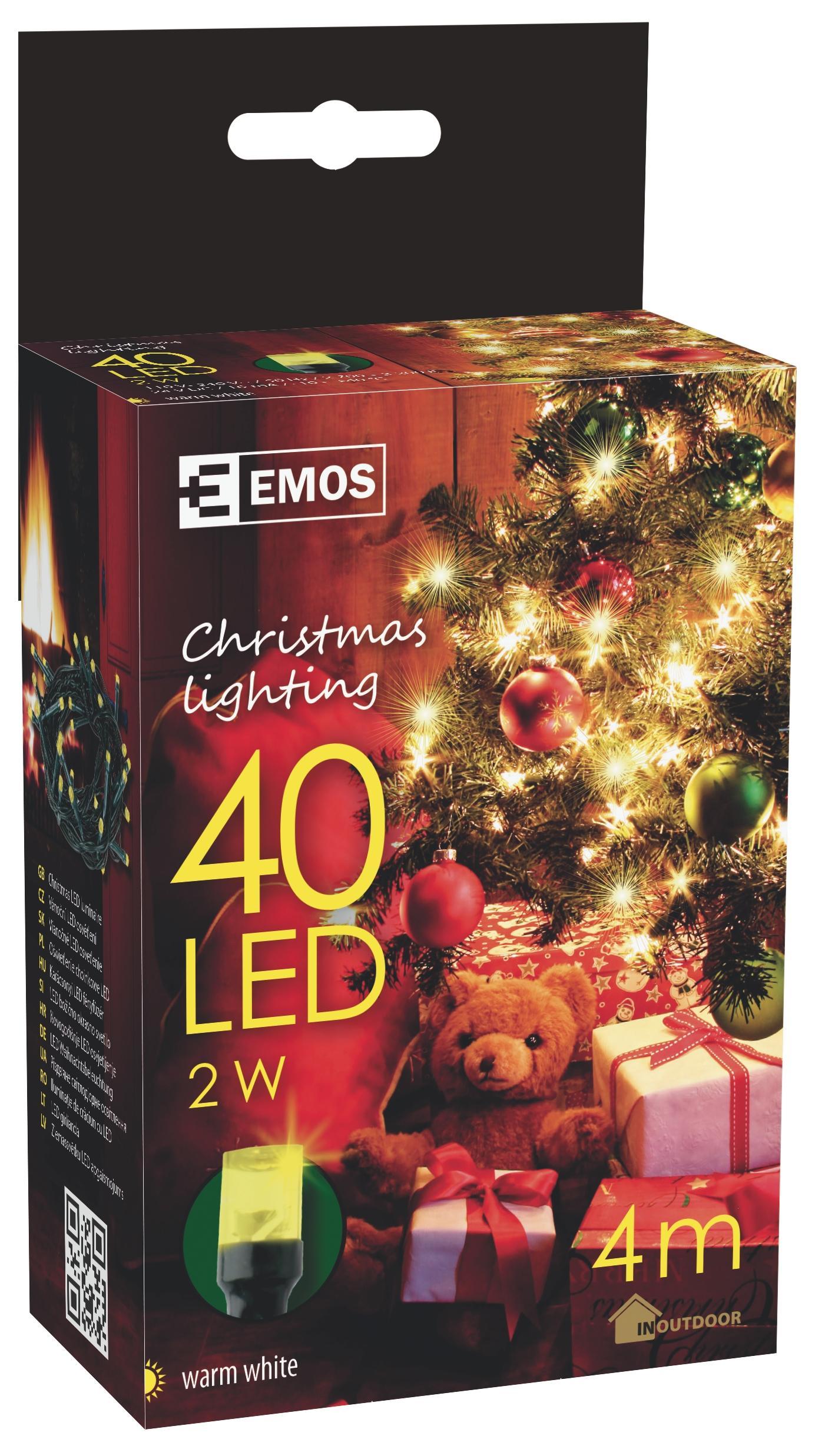 40 LED vánoční osvětlení 4M IP44 teplá bílá
