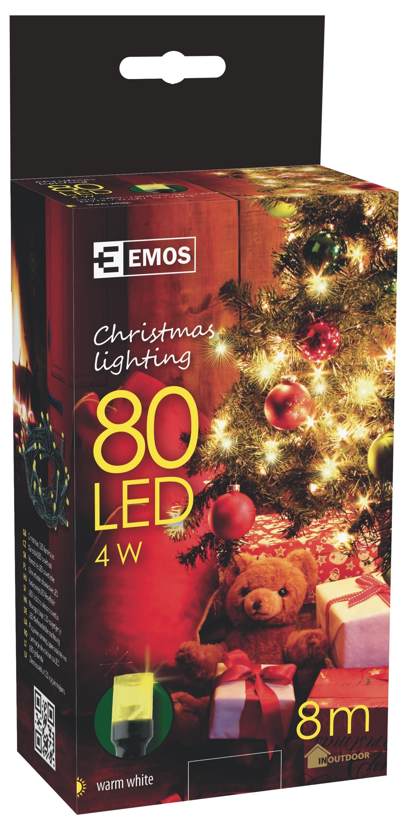 80 LED vánoční osvětlení 8M IP44 teplá bílá