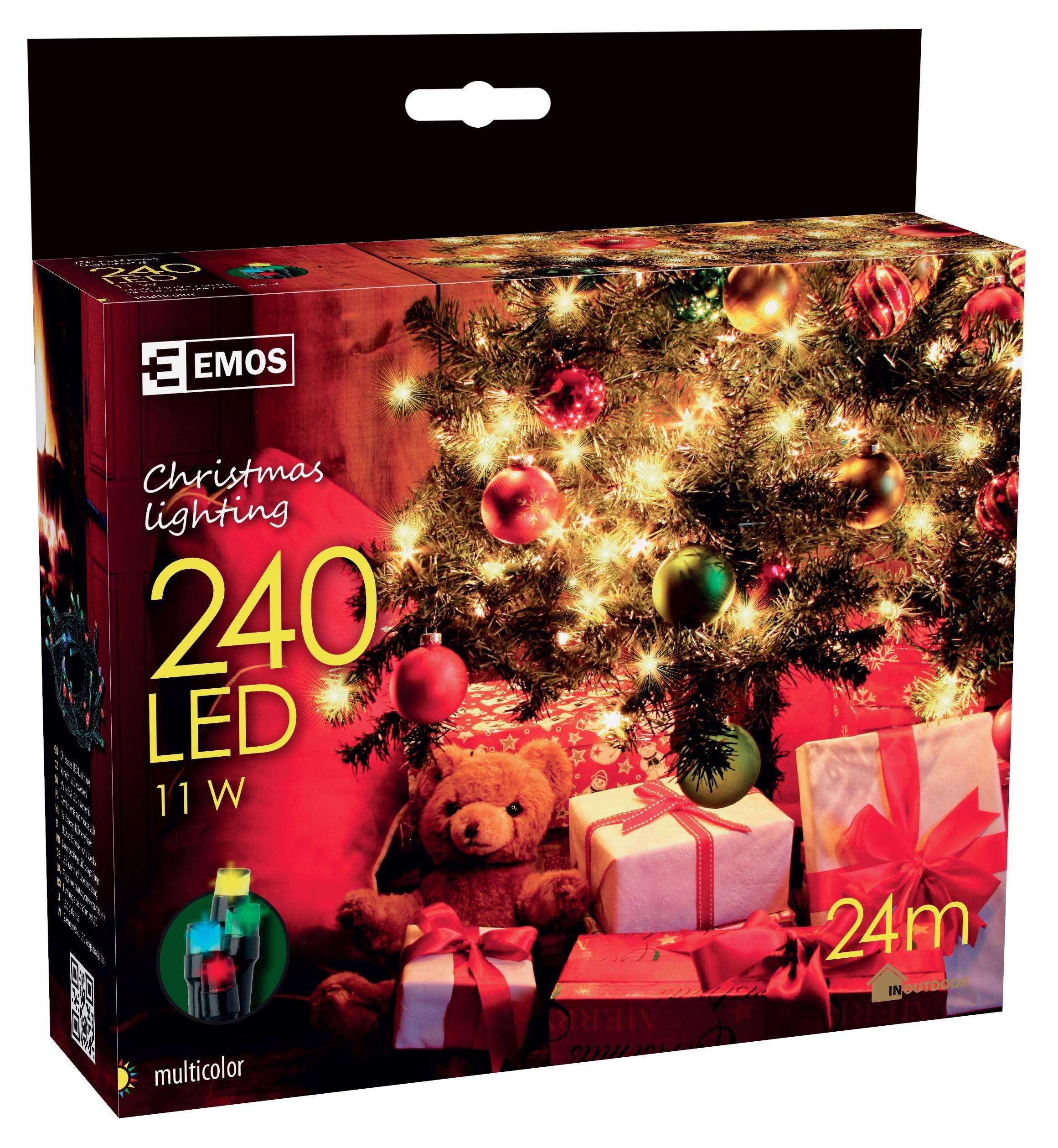 240 LED vánoční osvětlení 24M IP44 multicolor
