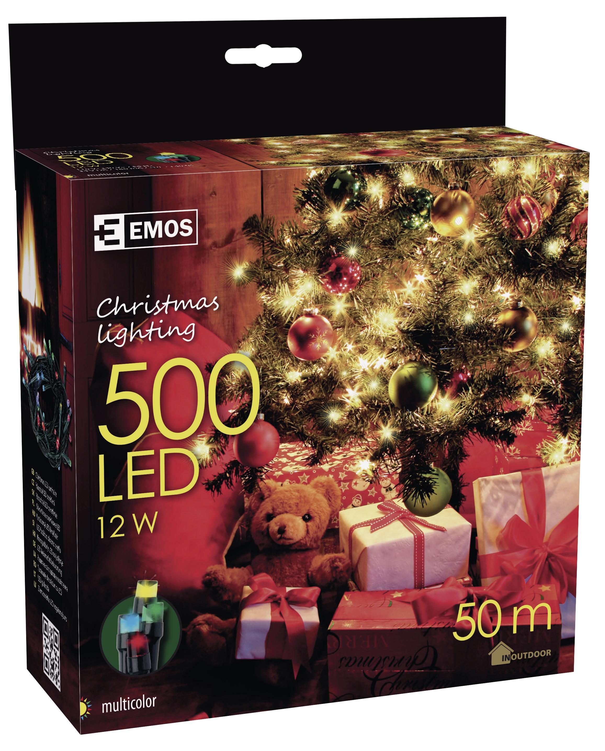 500 LED vánoční osvětlení 50M IP44 multicolor