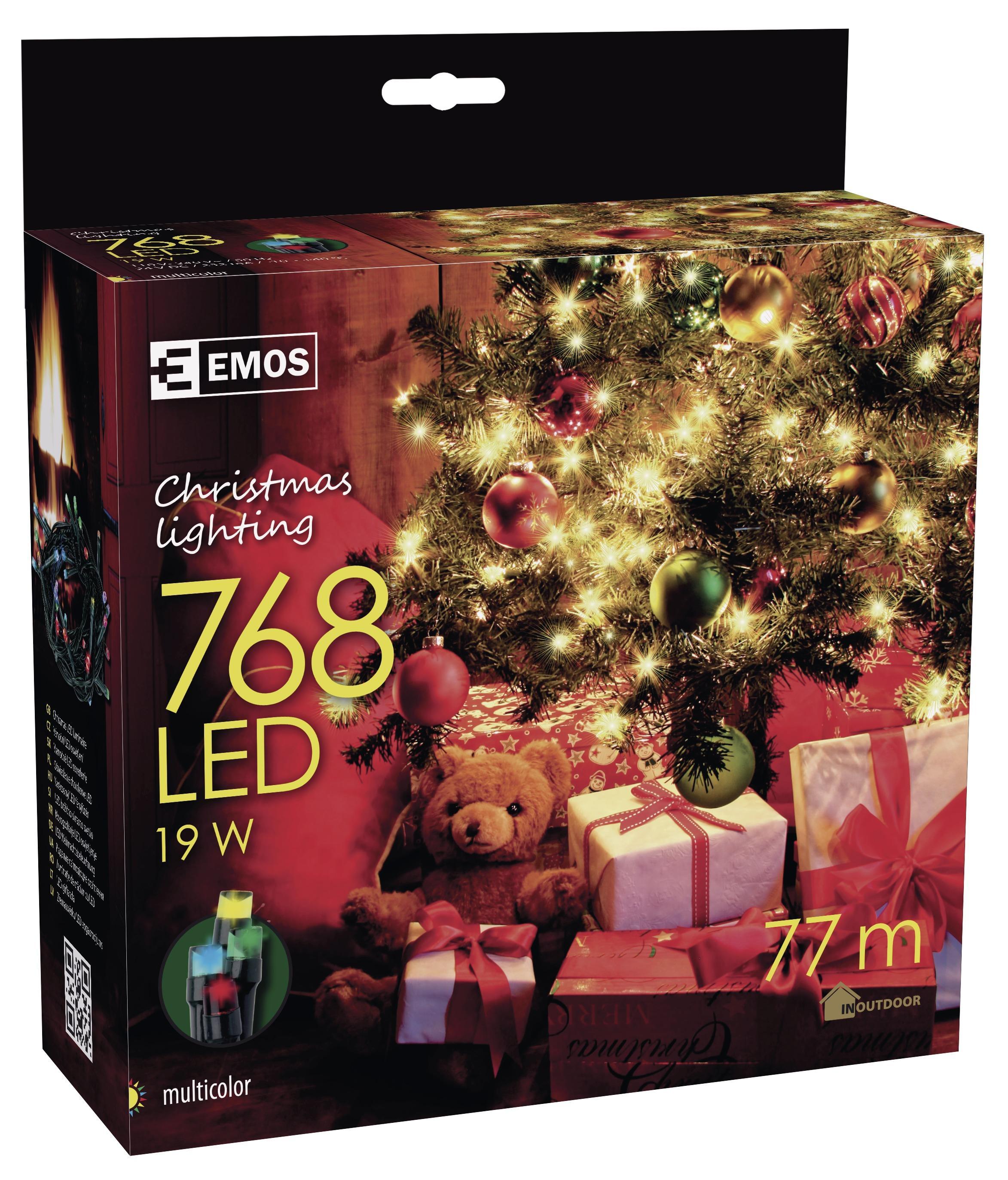 768 LED vánoční osvětlení 76M IP44 multicolor