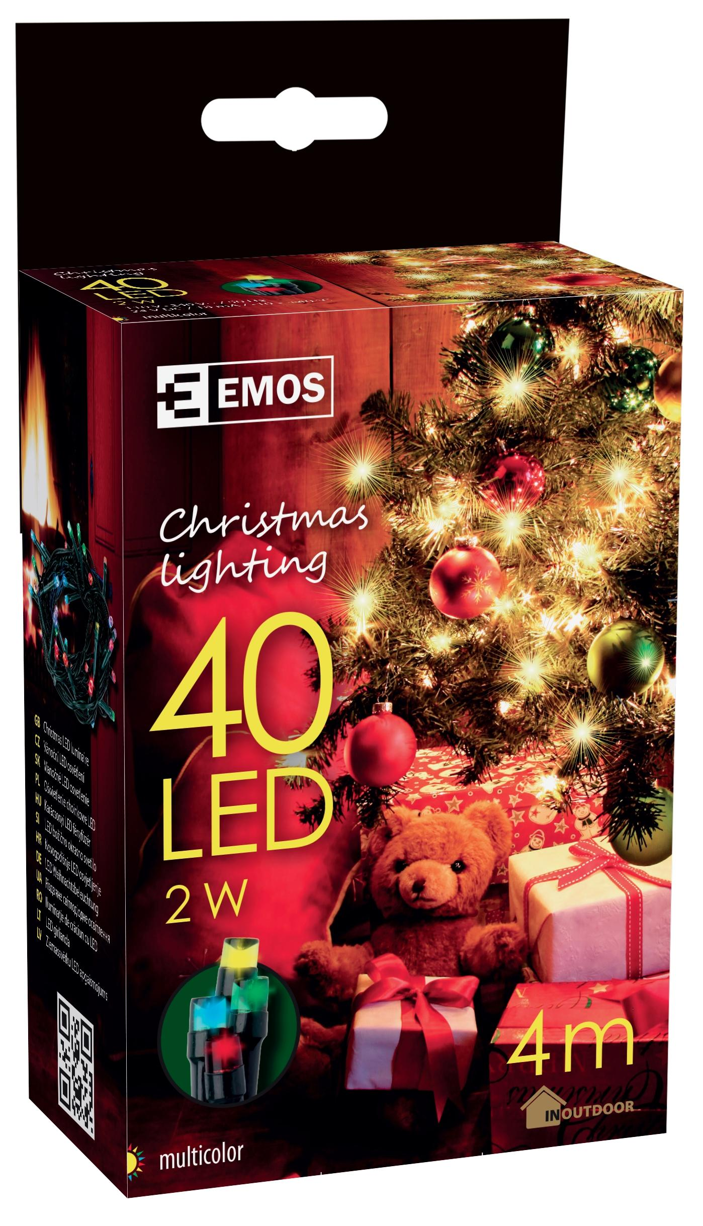 40 LED dekor. řetěz 4M IP44 multicolor