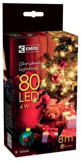 80 LED dekor. řetěz 8M IP44 multicolor